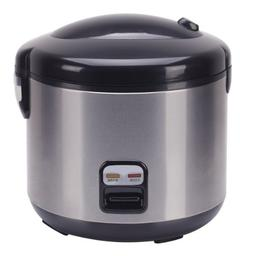 SPT 10-Cup Rice Cooker with Stainless Steel Body