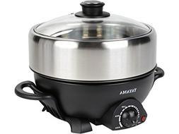 TRMC-40 Shabu and Grill Multi-Cooker, 4 quart, Black