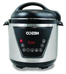 NESCO PC6-13, Pressure Cooker, Silver/Black, 6 quart, 1000 w