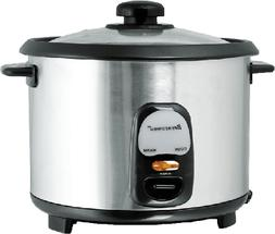 Brentwood Appliances TS15 8 Cup Rice Cooker Stainless Steel