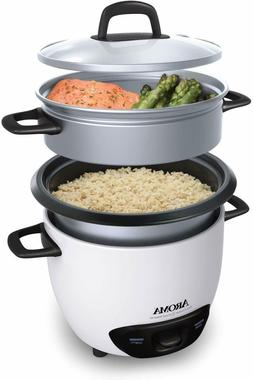 AROMA ARC-743-1NG Pot Style Rice Cooker and Food Steamer - W