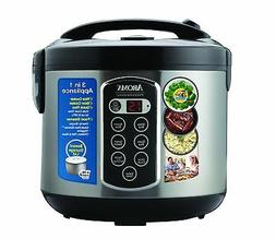 Aroma Professional Rice Cooker / Multicooker, Silver