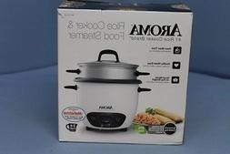 Aroma ARC7431NG 6-Cup Rice Cooker - White