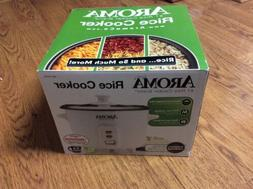 Aroma 2-6 Cup Rice Cooker Feat Clear Glass Lis & Removable N
