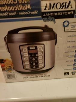 Aroma 4-20Cup Cooked Digital Rice Cooker and Stainless Steel