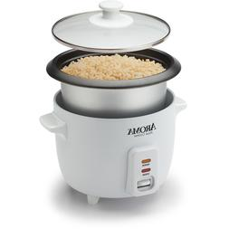 Aroma 6 cup    Pot Style Rice Cooker White ARC-363NG