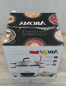 Aroma ARC-743-1NGR 6-Cup Pot Style Rice Cooker-White