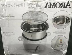 Aroma ARC-753SG Simply Stainless Rice Cooker - White