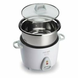 6 Cup Rice Cooker with Simple One-Touch Design and Stainless