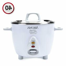 Aroma Simply Stainless Rice Cooker, White