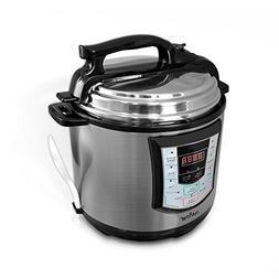 NutriChef AZPKPRC22 Electronic Pressure Slow Cooker, 10.26 p