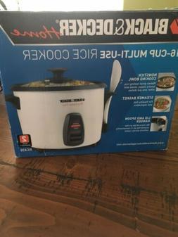 Black & Decker 16-Cup Multi-Use Rice Cooker NIB. RC436