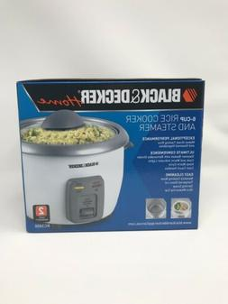 Black and Decker 6 cup Rice Cooker and Steamer RC3406