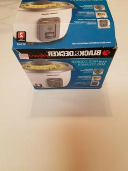 Black & Decker 6 Cup Rice Cooker Food Steamer RC3406 White .