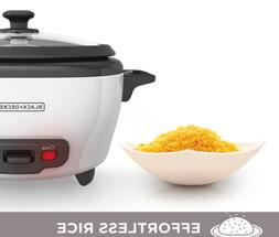 Black & Decker RC503 White 3 Cup Rice Cooker With Automatic