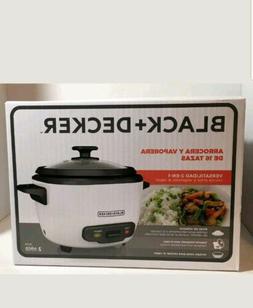 Black & Decker Rice Cooker 16-cup - 500 W - 1 Gal - White