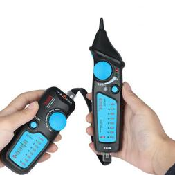 Black+Blue Lan Tester RJ45 RJ11 Cable Tone Tester Network Ph