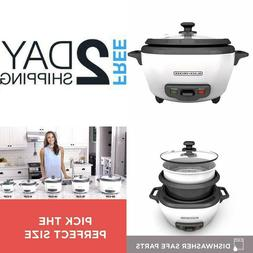BLACK DECKER 6  28 Cup Cooked 3 Cup Uncooked Rice Cooker and