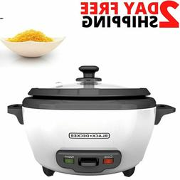 BLACK+DECKER 6-Cup Electric Rice Cooker with Keep-Warm Funct