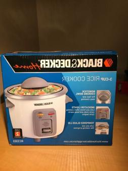 BLACK+DECKER RC3303 1.5-Cup Dry/3-Cup Cooked Compact Rice Co