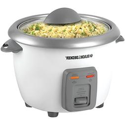Black & Decker RC3406 6-Cup Rice Cooker, White