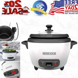 BLACK+DECKER 6 Cup Cooked/3 Cup Uncooked Rice Cooker and Foo