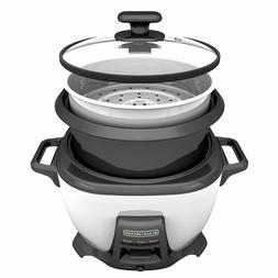 BLACK+DECKER  Rice Cooker and Food Steamer, 5 Sizes