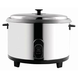 Centaur 23 Cup Stainless Steel Rice Cooker Warmer - 16 3/8 L