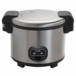 commercial 60-cup rice cooker | aroma housewares steel stain