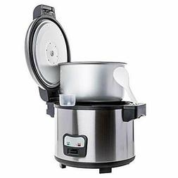 SYBO Commercial Grade Rice Cooker/Warmer 60 Cups with Hinged