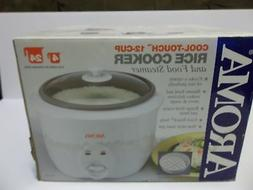 Aroma Cool Touch 12-Cup Rice Cooker and Food Steamer - New