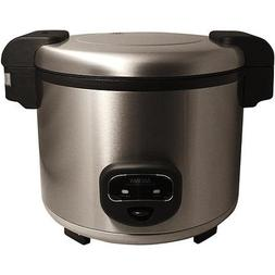 Aroma 60-Cup Cool Touch Commercial Rice Cooker, Stainless St