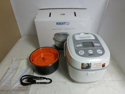 Tiger Corporation JBX-B10U Rice Cooker, 5.5-Cup, White