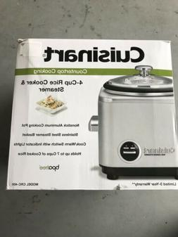 Cuisinart CRC-400 4-Cup Rice Cooker, Stainless Steel