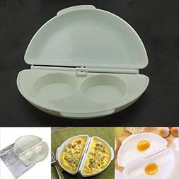NEW Creative Home Use Microwave Egg Omelet Wave Mould Mold E