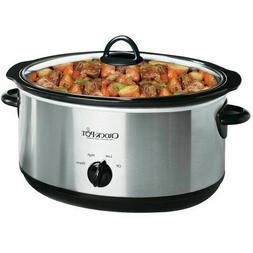 CROCK POT SLOW COOKER 7 Qt Oval Stoneware Manual Stainless S