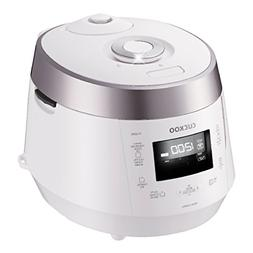 Cuckoo CRP-HV0667F IH Pressure Rice Cooker, 6 Cup, Silver by