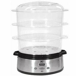Kalorik DG-16271 800-Watt 3-Tier Food Steamer with Stainless