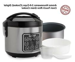 Digital Cool-Touch Rice Grain Cooker and Food Steamer, Stain