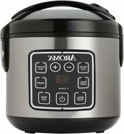 Aroma Digital Cool-Touch Rice Grain Cooker, Food Steamer, 2-