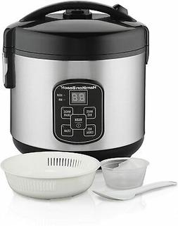 Digital Programmable Rice Cooker & Food Steamer, 8 Cups Cook
