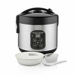 Digital Programmable Rice Cooker & Food Steamer 8 Cups C Sta