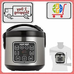 Digital Rice Cooker & Food Meat/Vegetables Steamer In Parall