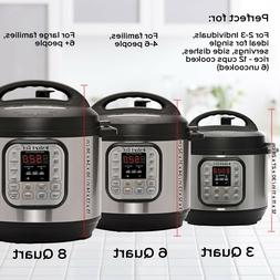 Instant Pot DUO60 6Qt 7-in-1 Multi-Use Programmable Pressure