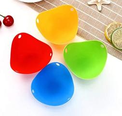 NEW 1pc/4pcs Egg Poachers Silicone Egg Cooker Kitchen Tools