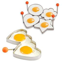 Egg Ring Set Mcmuffin Mold Perfect Fried Egg Cooker Utensils
