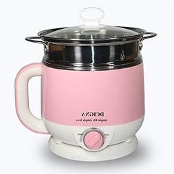 1.5L Electric Cooker Hot Pot Egg Cooker SUS 304 Stainless St