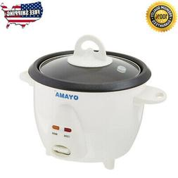 Electric Rice Cooker Warmer 3 Cups Uncooked Non Stick Cookin