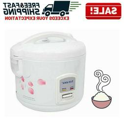 Electric Rice Cooker Warmer Steam Basket Cool Touch Automati
