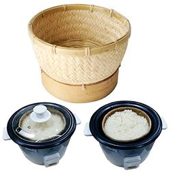 Exotic Elegance Sticky Rice Steamer Cooking Bamboo Basket fo